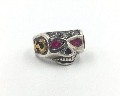 Johnny Skull Gemstone Ring
