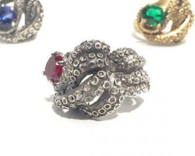 Kraken Ruby Ring